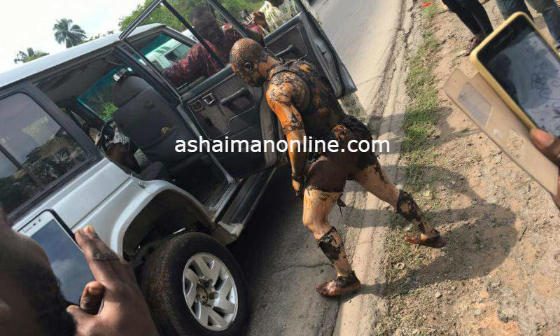 Photos: Men Burnt in a Bizarre Explosion in Kumasi