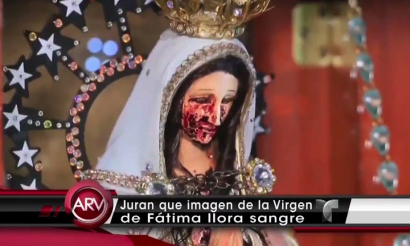 Video: Virgin Mary's Statue Cries Blood in Church