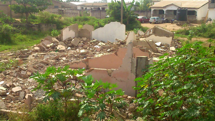Photos: Buildings Without Permit Undergo Demolition in Ashaiman