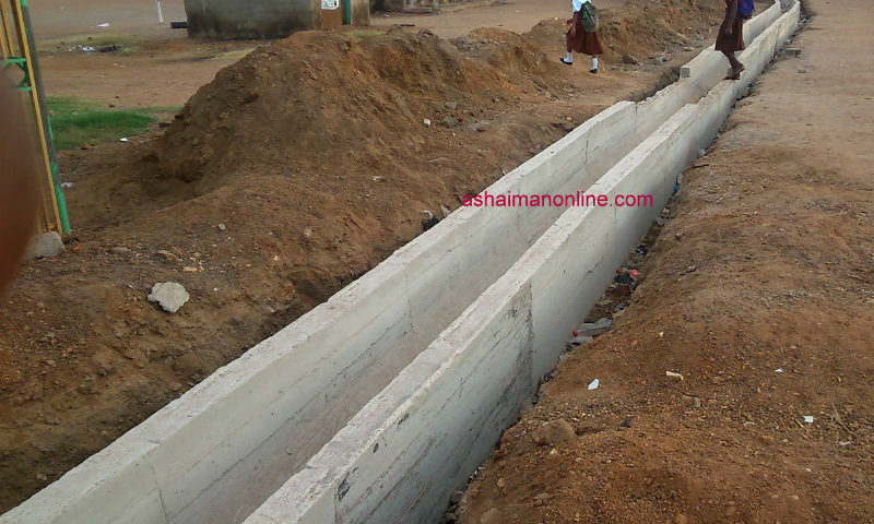 Photos: Improved Drainage System Constructed In Ashaiman-Lebanon