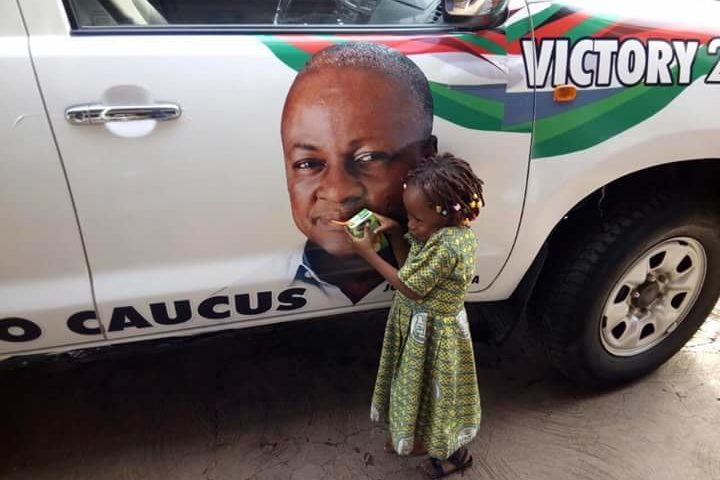 Girl Cajoles Mahama To Drink Kalyppo