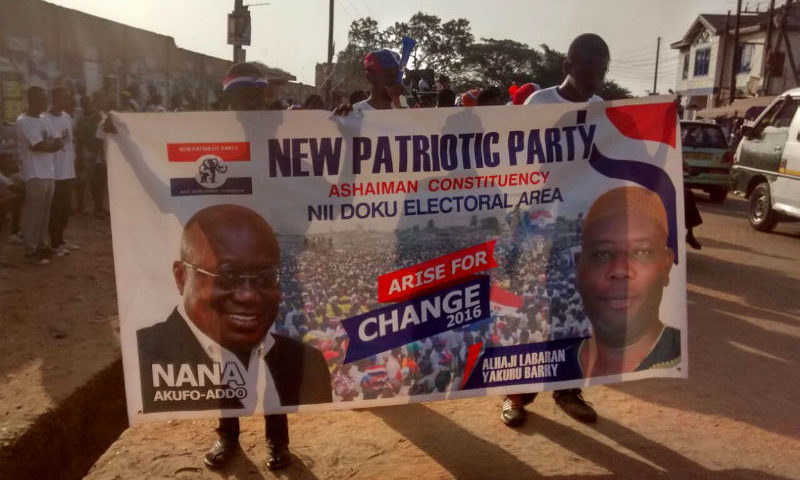 Photos: The New Patriotic Party (NPP) Invades Ashaiman