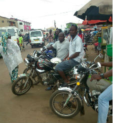 Photos: Okada Riders in Ashaiman Not enthuse With Recent Business
