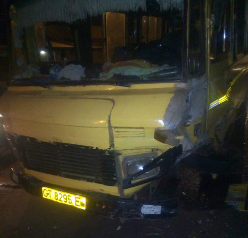 Photos: Drivers Escape Death in an Accident in Ashaiman