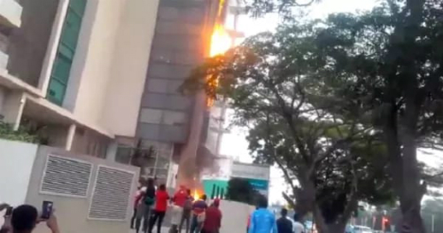 Photos: Raging Fire Engulfs Accra Financial Center