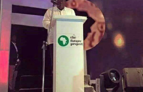 """Photo: Akufo-Addo Given a Pulpit """"Taller"""" Than Him in Nigeria"""