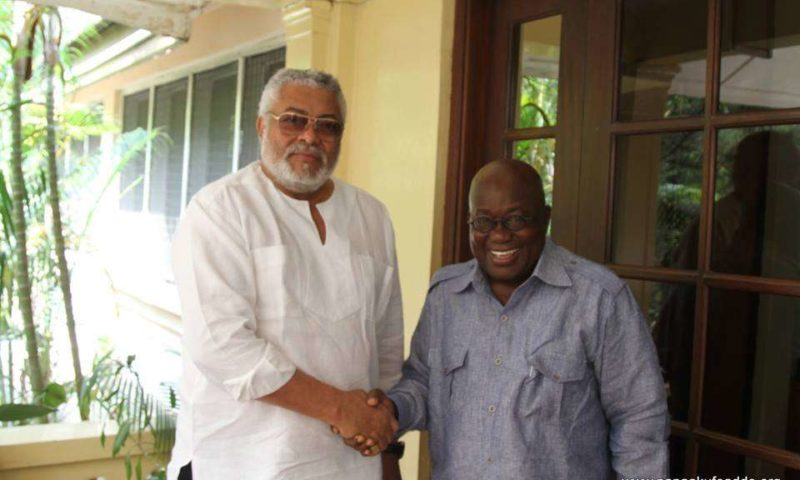 Akufo-Addo visits Rawlings as part of his thank-you tour