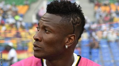 Asamoah Gyan's Haircut Puts Him in Trouble
