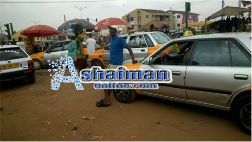"Photos: ""Business Is Slow""-Ashaiman Taxi Drivers"