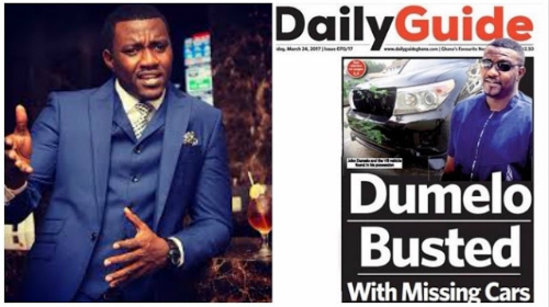 John Dumelo Busted With Missing Cars