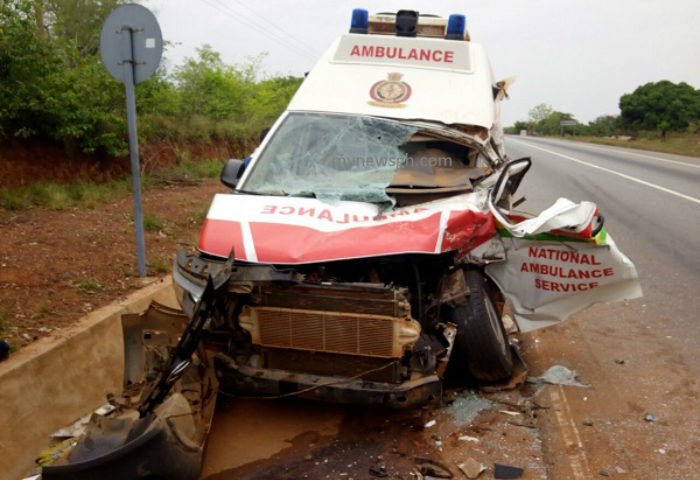 Ambulance Conveying Patients from Tamale to Kumasi Involved In a Gory Accident