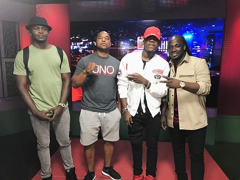 Stonebwoy spotted on onstage TV with I Octane in Jamaica
