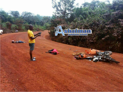 Breaking News: 3 Persons Die in Motor Accident at Wasa Akyempem (Photos)