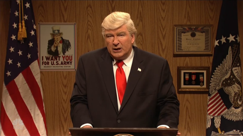 Alec Baldwin As Trump Tells His Supporters To 'Keep Eating That Finger Chili'