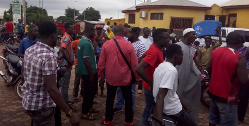 Ashaiman: Invisible Forces take over Taboo line lorry station