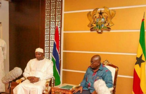 Only in Ghana: Akufo-Addo now turns Ghana flag upside down?