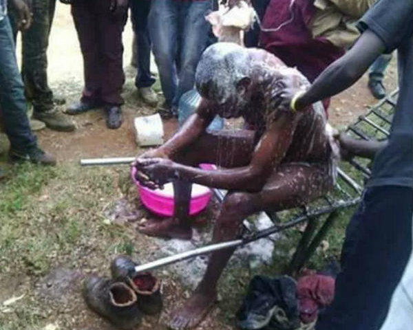 Ashaiman Man Baths For the First Time in 6 Months (Photo)