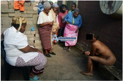 Ashaiman: Witch Trapped in Fetish Priest's Compound [Photo]