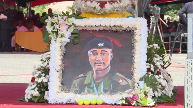 Major Mahama's funeral goes international