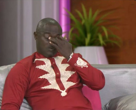 Watch: Odartey Lamptey weeps on live TV over cheating wife
