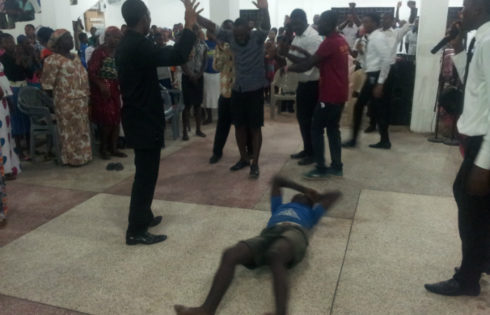 The Climax Of The Night Of Healing With Jesus At The Naos (Videos)