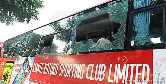 Photos: Kotoko bus crashes; one feared dead, coach, players injured