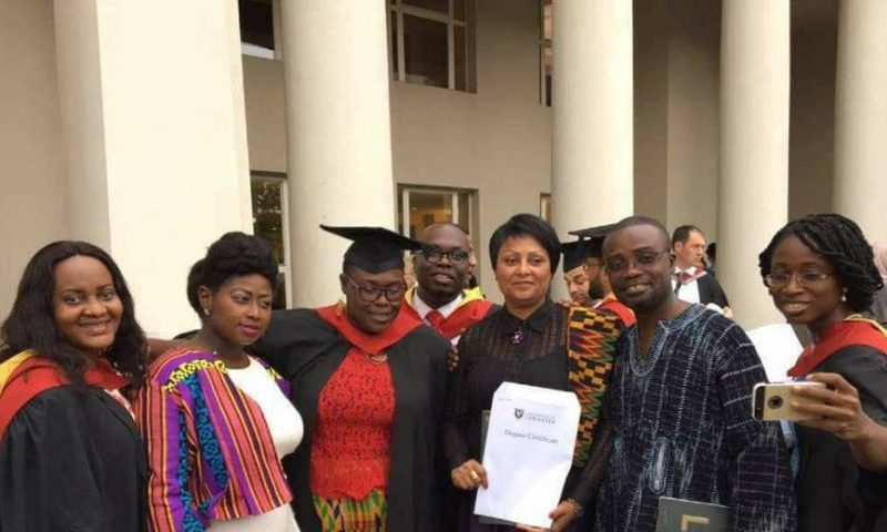 Major Mahama's Masters certificate given to mom