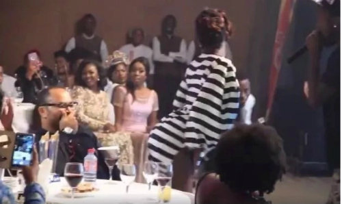 Ebony Leaves Ramsey Nouah Red-Faced (Video)