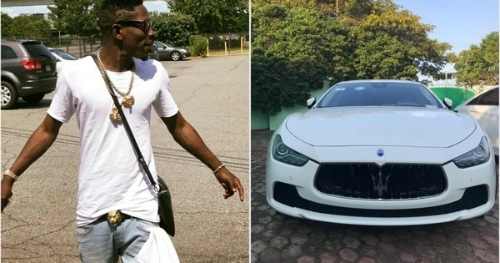 Shatta Wale Surprises  Lucky Winner With A Maserati
