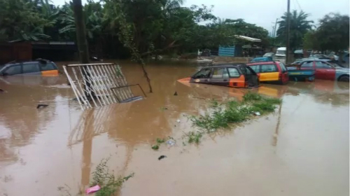 Photos: 1 Dead, Others Hospitalised As floods Hit Major Areas In Ghana
