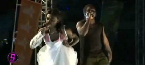 Lil Win hits stage in wedding gown - ashaimanonline.com
