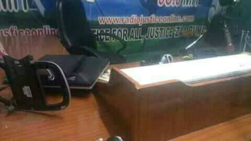 Thugs Attack Radio Justice (Photos)