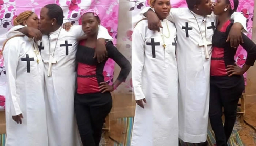 Photos: Prophet Arrested For Kissing Wife And Housemaid In Public